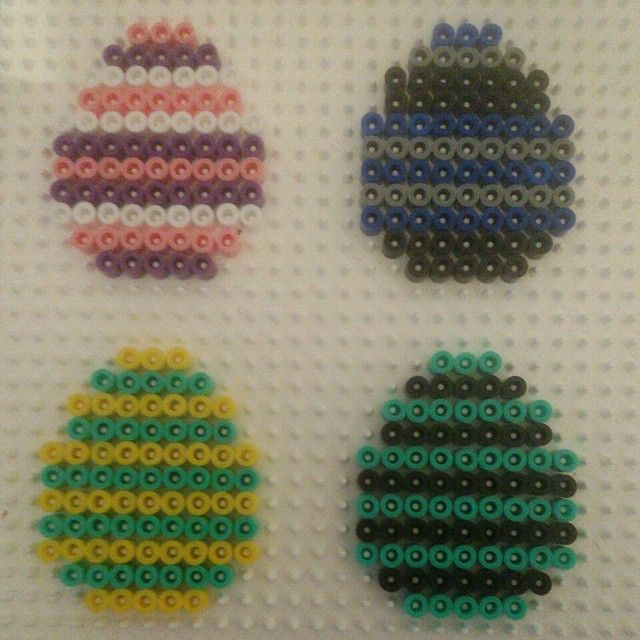 Easter eggs hama beads by lamarquethiery
