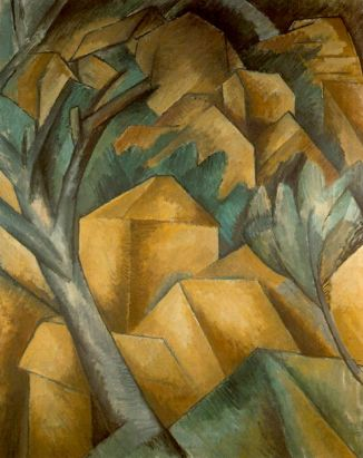 Georges Braque Houses at L'Estaque 1908 oil on canvas 73 x 60cms