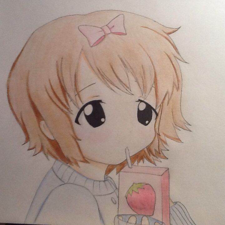 A cute anime girl with a juice box! I'm not very good at originals but I hope you guys like it! Please comment! Credit to Chloe Pash!