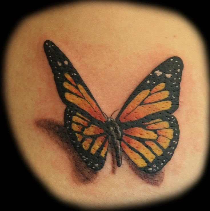 Large color tattoo butterflies on the back1 - Butterfly Tattoos ...