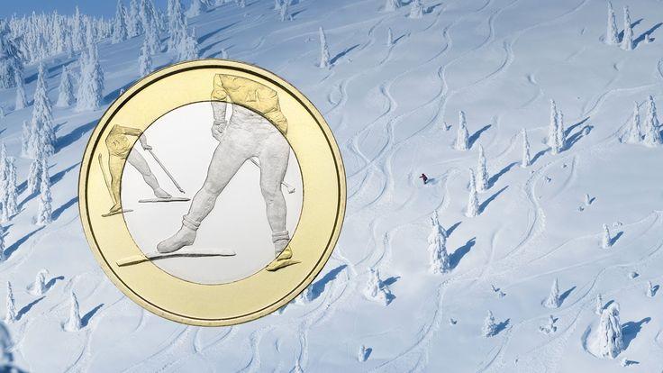"""Беговые лыжи"" - монета 5 евро из Финляндии - http://sportmetod.ru/video/snow/begovye-lyzhi-moneta-5-evro-iz-finlyandi.html"