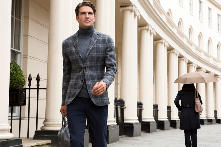 Fay City Diaries features the Men's Fall - Winter 2013/14 collection with the charming backdrop of London. Jacket. http://www.fay.com/it/city-diaries/londra