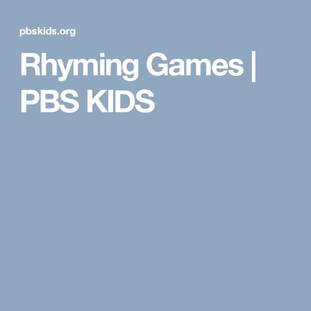 Rhyming Games   PBS KIDS  #rhymes #readingskills #fungames