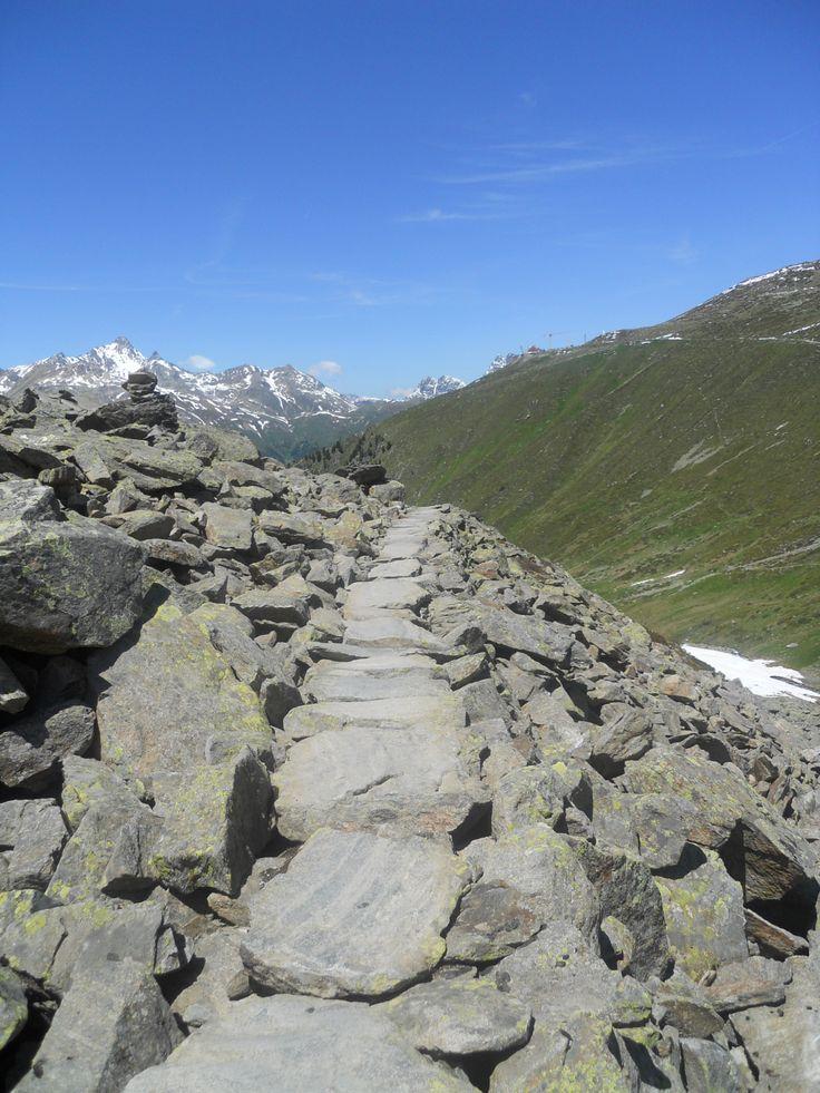 Track to Pontresina. Graubunden