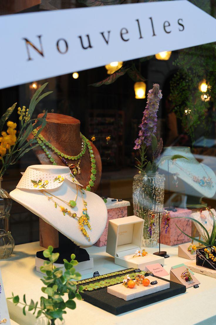Vitrine nouvelle collection printemps été, Les Néréides Paris, accessoires bijoux fantaisies