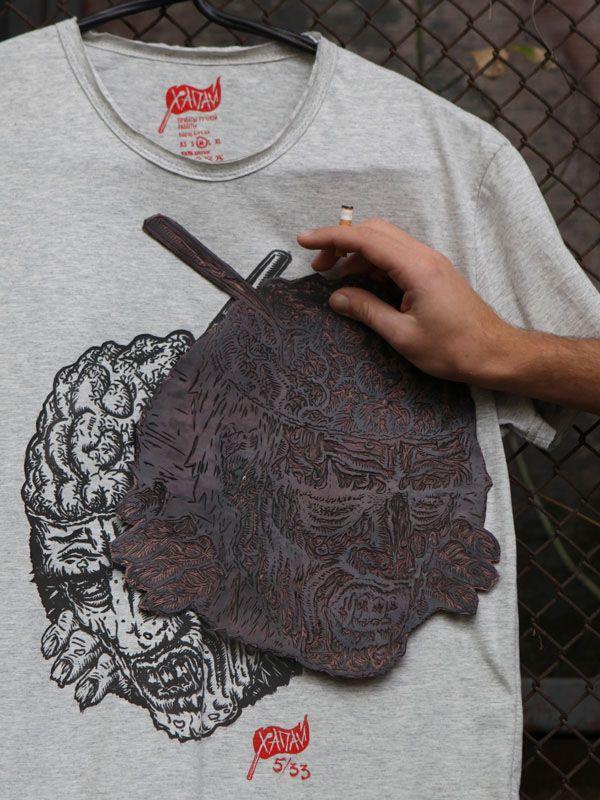 linocut prints on fabric