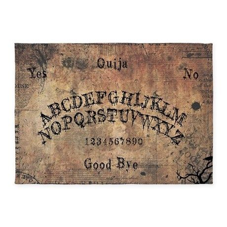 Talking Board Rug 5'x7' Area Rug - #Ouija, #Board, #Bored, #Seance, #Spiritualist, #Mystifying, #Oracle, #Talking, #Occult, #Fortune, #Telling, #Halloween, #Horror, #Ghost, #Creepy, #Victorian, #Era, #Spirit, #Planchette, #Witchboard, #Witch, #Automatic, #Writing, #Witchcraft, #Craft, #Dead, #Demonic, #Possession, #Devil, #Divining, #Elijah, #Bond, #Magic, #Egyptian, #Luck, #Mysticism, #Occultism, #Pythagoras, #Clairvoyance, #ESP, #Seers, #Psychics, #Captain, #Howdy, #Alphabet,