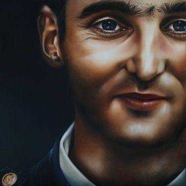 'Son of Tbilisi' by Sofia Minson - 1200 x 1200  Realism Oil Portraiture