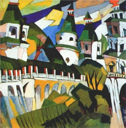 Churches - Aristarkh Lentulov /CUBO-FUTURISM
