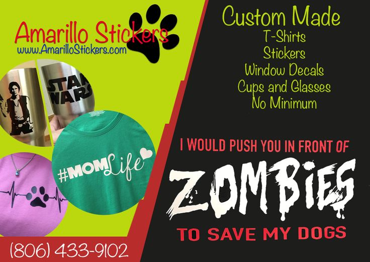 From custom tees to custom mugs and stickers amarillo stickers has you covered