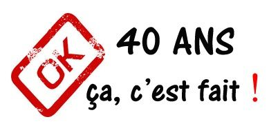 T-shirt humour 40 ans
