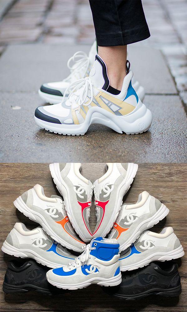 Chanel   Louis Vuitton  So sehen die neuen Designer-Sneakers aus  chanel   louisvuitton  sneaker f4e0954fdaf