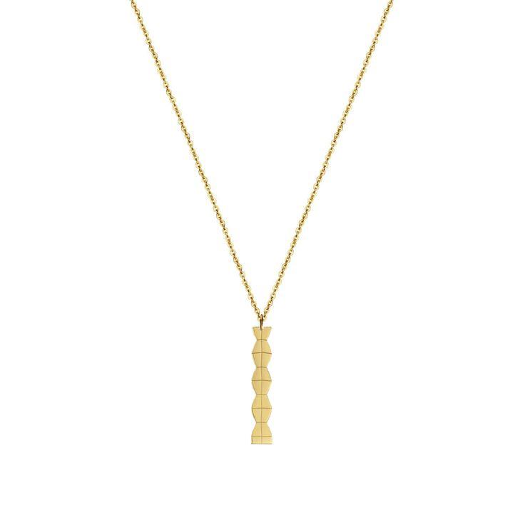 14 karat gold Column necklace - Malvensky
