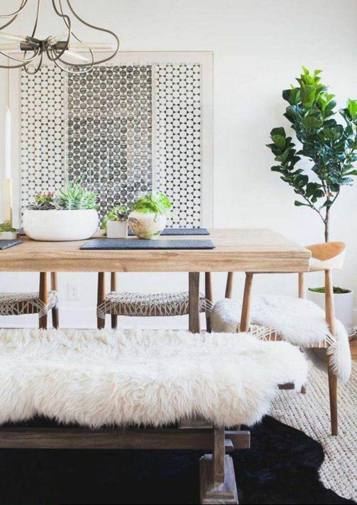 salle à manger contemporaine de style scandinave