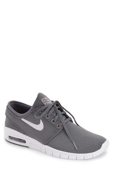 Nike 'Stefan Janoski - Max SB' Skate Shoe (Men) Size 7 Dark grey/black available at #Nordstrom