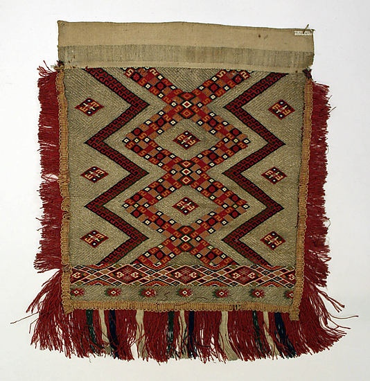 Apron,19th century  Romanian ,linen and wool