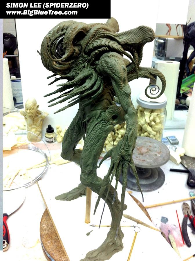 Simon Lee Spiderzero Sculptor Pacific Rim Kaiju Creature Designer Concept Artist - BigBlueTree.com - Creature Designer SpiderZero Big Blue Tree Spider Zero Garage Kit Simon Spiderzero Lee