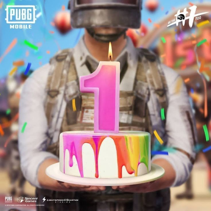Happy PubgMobile day Happy birthday theme, Birthday cake