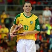 Fernandinho of Brazil is seen with the adidas Bronze Boot Award - FIFA.com