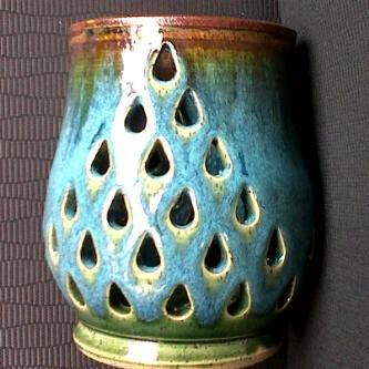 """My Bohemian Lantern with """"Heather"""" inspired glaze."""