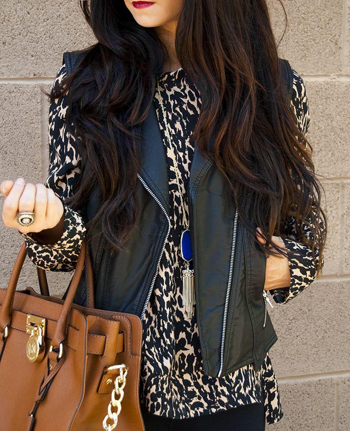 J Petite: Express Minus the Leather Vest