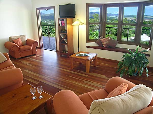 """The Summit Rainforest Retreat - Atherton, Atherton Tablelands - """"On the lip of a long-extinct volcano and overlooking the township of Atherton, The Summit Rainforest Retreat and The Summit B&B each command a brilliant view. This versatile retreat is actually two properties and offers a secluded luxury getaway for business, pleasure or a combination of the two."""""""