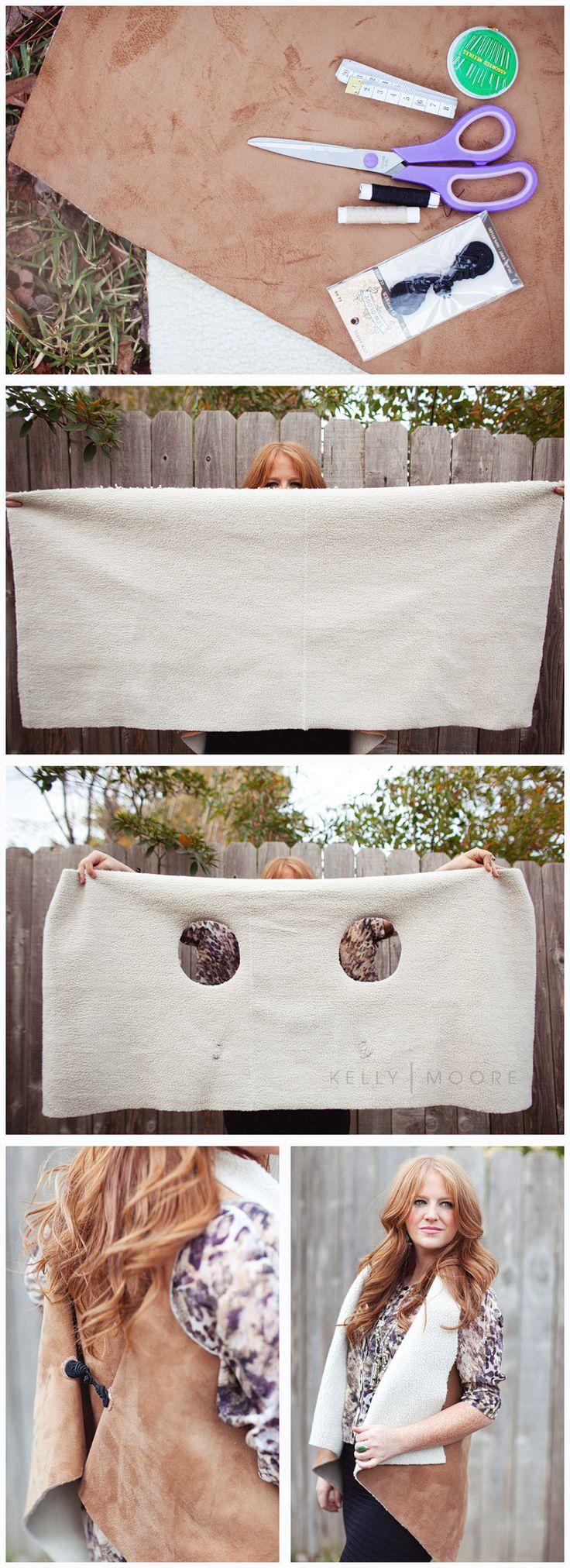 #DIY shearling vest via KellyMoorebag.com