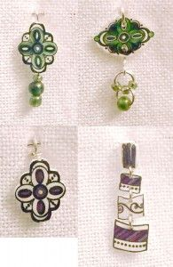 Shrinky Dink Jewelry- reminds me that I could make this to match my favorite  Vera B handbag patterns.