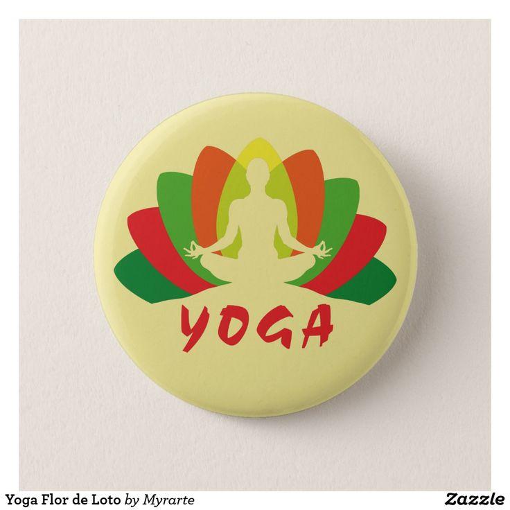 Yoga Flor de Loto. Producto disponible en tienda Zazzle. Product available in Zazzle store. Regalos, Gifts. #chapa #button #yoga