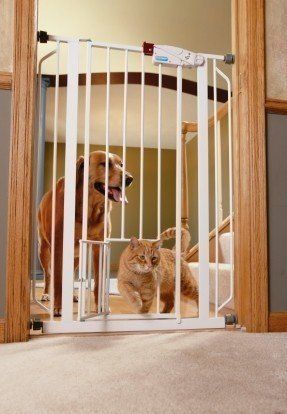 Extra Tall Pet Gate with Door