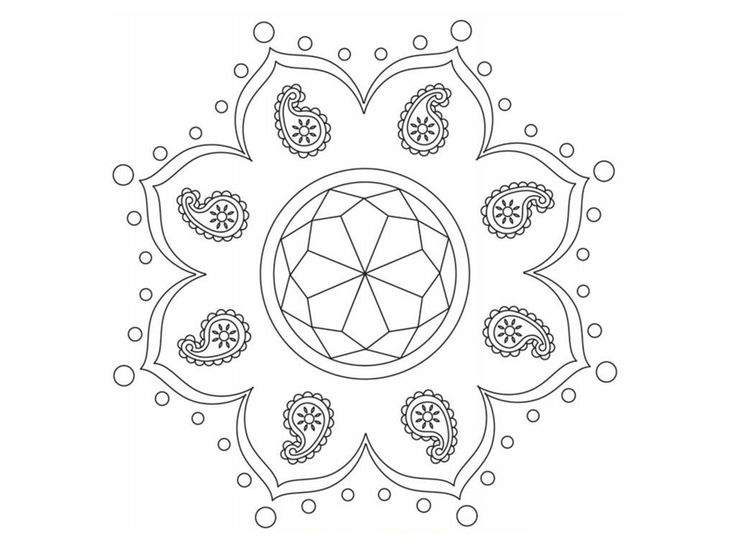 download free printable rangoli coloring pages
