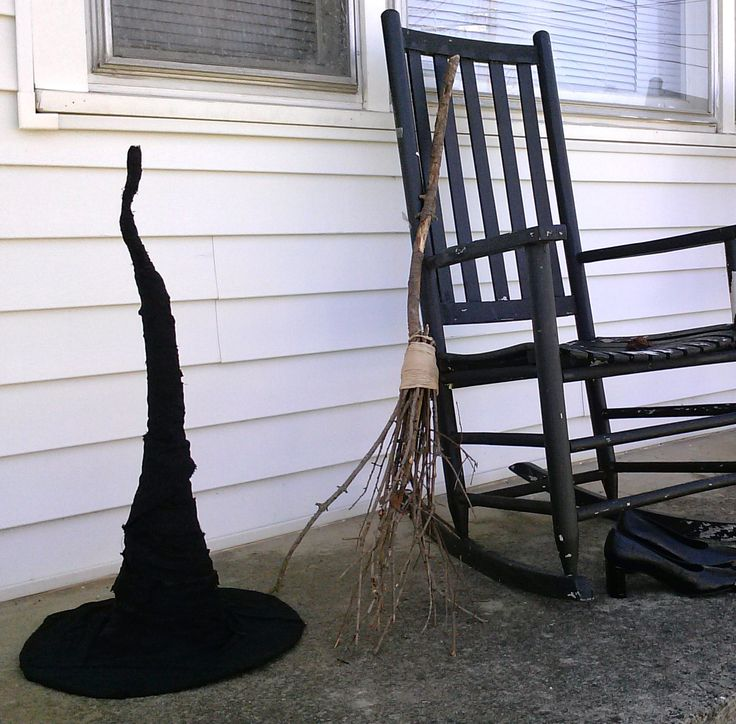 instructions to make witch hat using a cheap hat as the base - Halloween History Witches