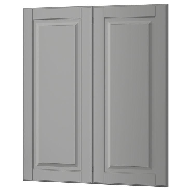 Kitchen Cabinets London Ontario: BODBYN 2-p Door/corner Base Cabinet Set Gray