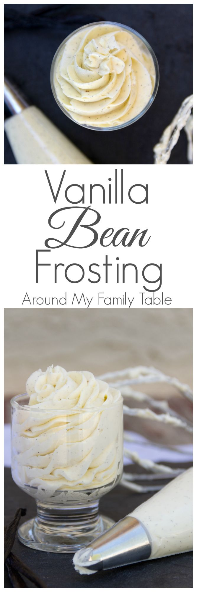 Adding real vanilla beans to delicious buttercream frosting makes a truly scrumptious Vanilla Bean Frosting that you'll love using over and over again.