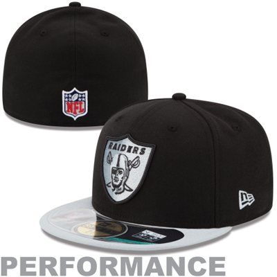 New Era Oakland Raiders Thanksgiving Day 59FIFTY Fitted Performance Hat - Black/Silver