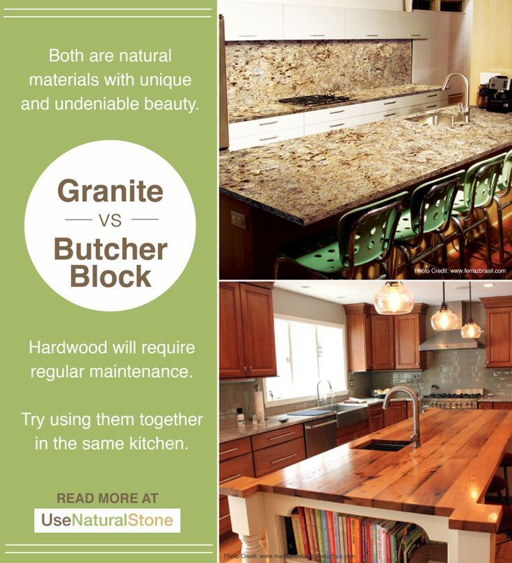 Granite Vs Butcher Block Countertops With Images Stainless