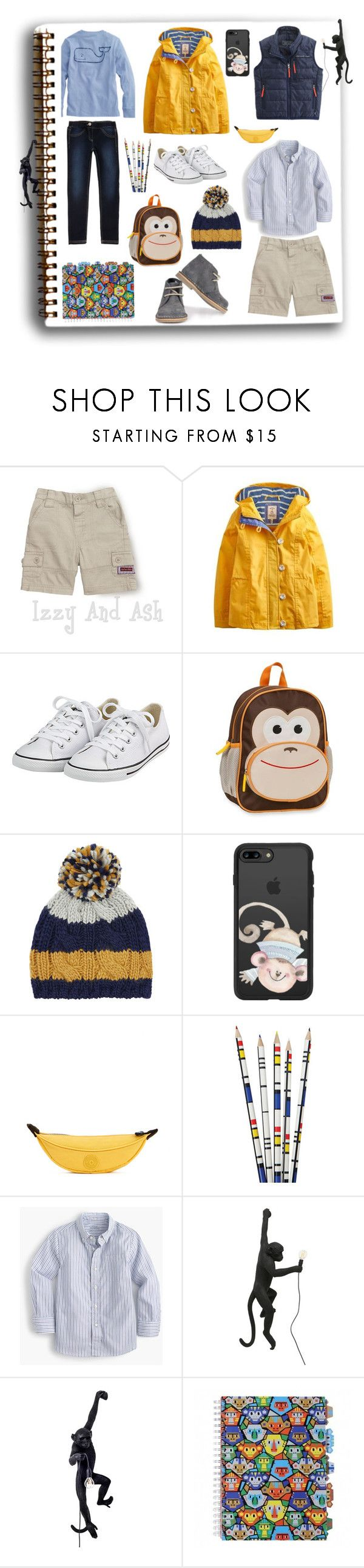 """""""Time to stop monkeying around"""" by onenakedewe ❤ liked on Polyvore featuring JoJo Maman Bébé, Joules, Converse, House of Fraser, Vineyard Vines, Tea Collection, Rockland Luggage, Monsoon, Casetify and Kipling"""