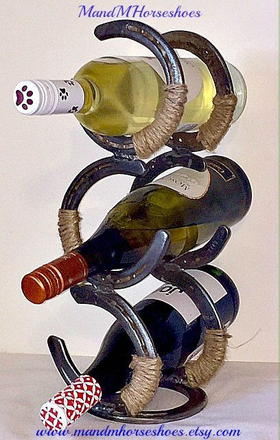 Bathroom Decor Featuring Horseshoes : Best horseshoe wine rack ideas on rolled