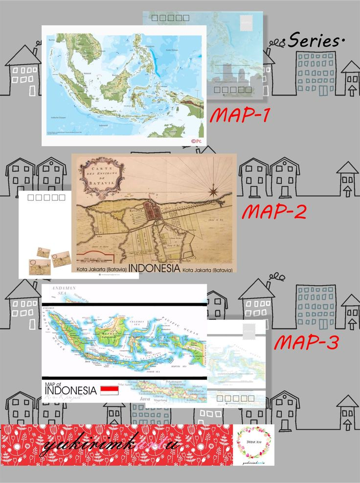 Series MAP of Indonesia.  follow us FB page : yukirimkartu