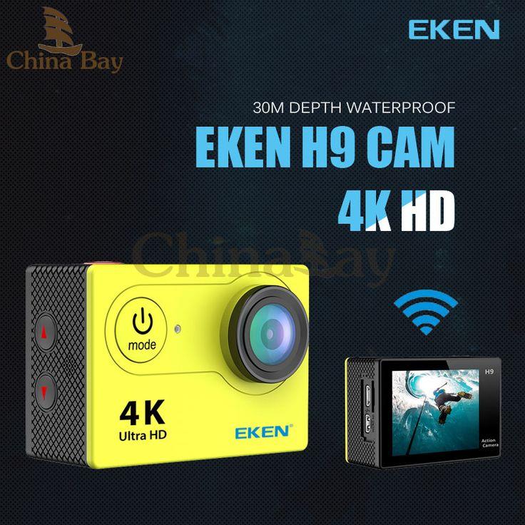 Action camera  EKEN h9 Ultra HD 4k sport camera wifi 1080p waterproof 2.0 LCD helmet cam  video camcorder go extreme pro
