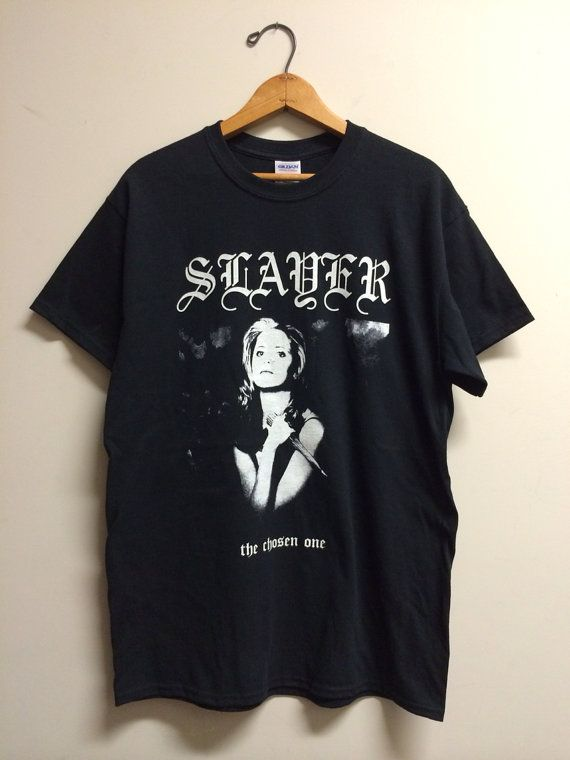 slayer btvs metal tee shirt cotton tee t shirt and cotton. Black Bedroom Furniture Sets. Home Design Ideas