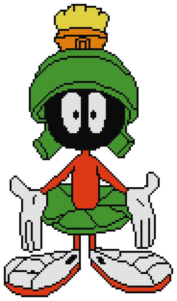 Counted Cross Stitch Pattern Marvin the Martian by DreamyMemories, $4.25