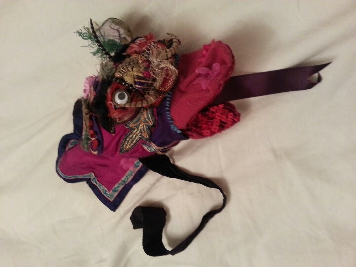 Chinese dragon sock puppet