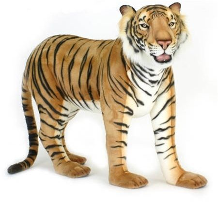 "Huge Stuffed Animals | 50"" Hansa Big Plush Tiger Stuffed Animal"