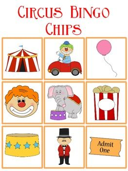 Circus Bingo FREEBIE                                                                                                                                                                                 More