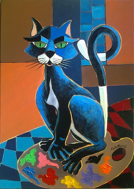 love these colors expression of cats mouth & shape of cat---Rita Cavallari