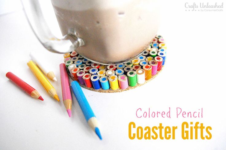 colored pencil coasters