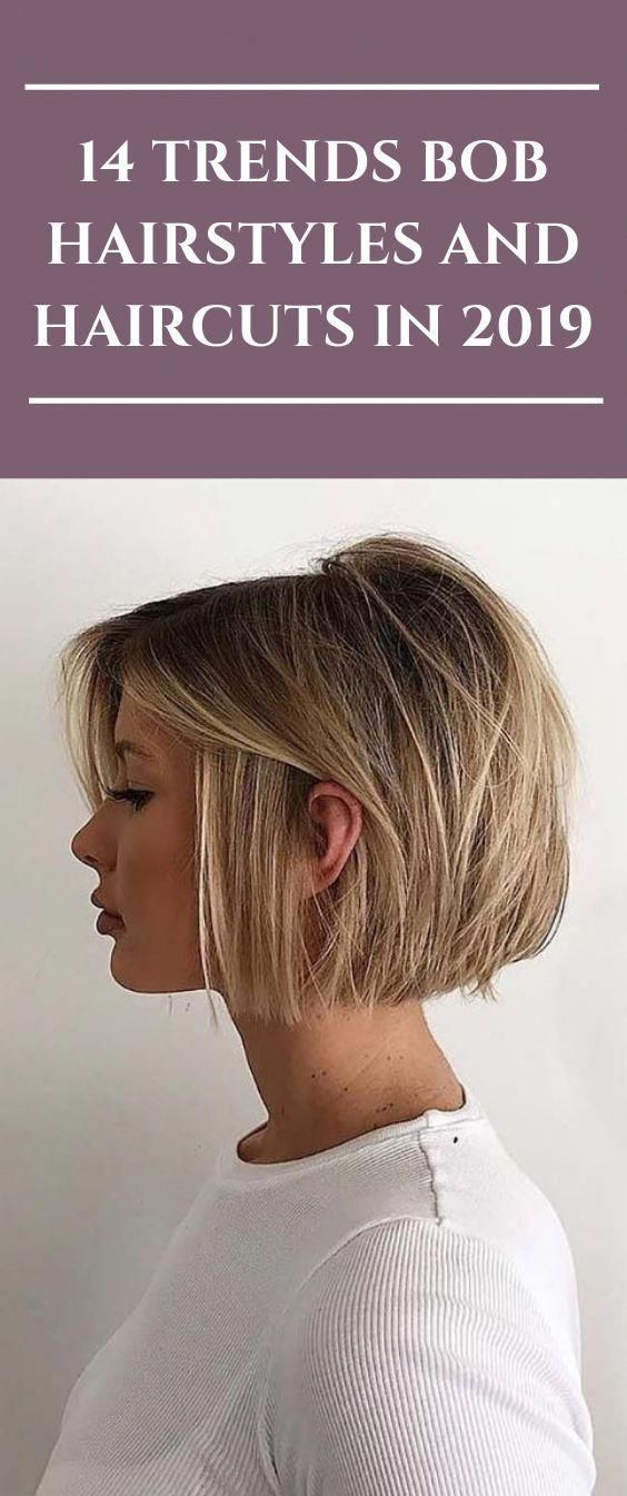 14 Trends Bob Hairstyles and Haircuts in 2019 #hairstyles #Bobhair #haircut #fas…