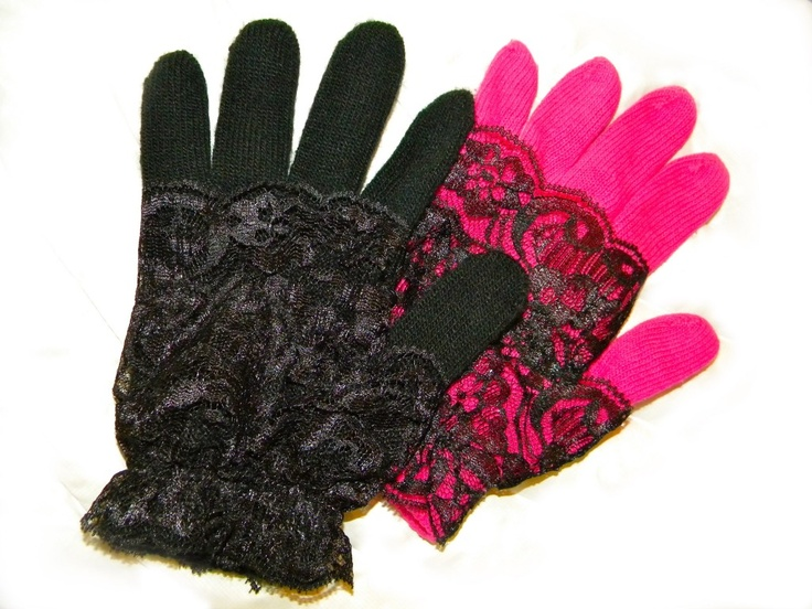 DIY lace gloves