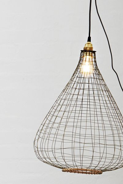 Wire & Bamboo Lamp Shade